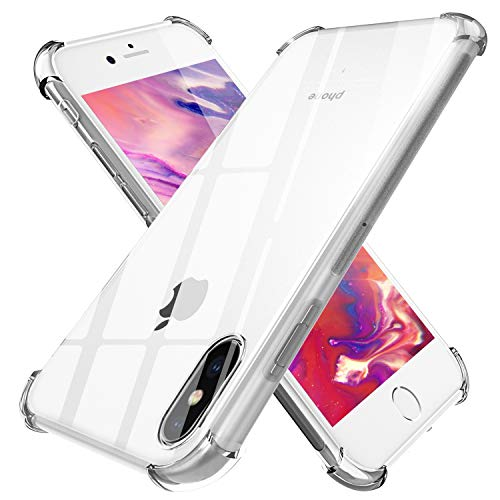 TGOOD Slim Grip iPhone Xs Phone Case, iPhone X Case 5.8 inch with Premium TPU Protection for Apple iPhone Xs 2018 Release/X 5.8 2017 Release - Transparent Clear