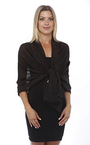 formal black wrap dress - 6