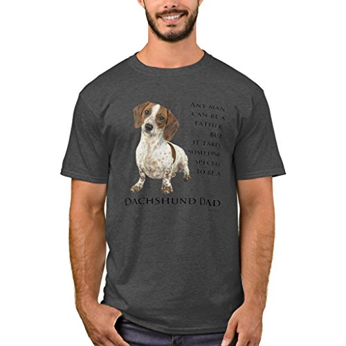 - Zazzle Men's Basic T-Shirt, Mini Dachshund Dad T-Shirt, Charcoal Heather XXXL