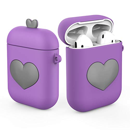 Airpods Case Silicone Cute for Women/Girls Full-Body Protection Dust-Proof Protective Cover Accessories Kit Compatible with Airpods - Full 1 Kit Body