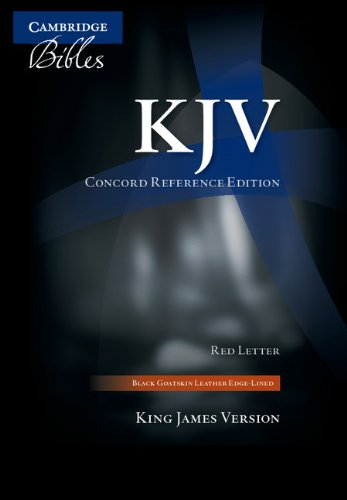 KJV Concord Reference Bible, Black Edge-Lined Goatskin Leather, Red Letter Text KJ566:XRE Black Goatskin Leather RCD266