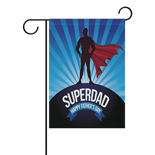 ALAZA Happy Father's Day Double Sides Garden Yard Flag Decor