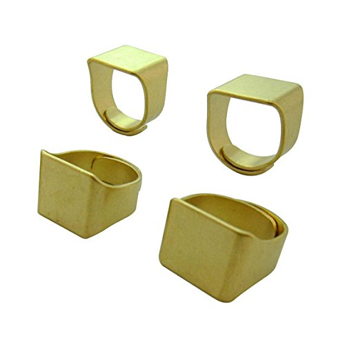 Classic Style 10pcs Top Quality Square Eco-Friendly Brass Ring Blanks Adjustable for Setting Sculpturing Custom 18 Gauge Lead Nickel Free