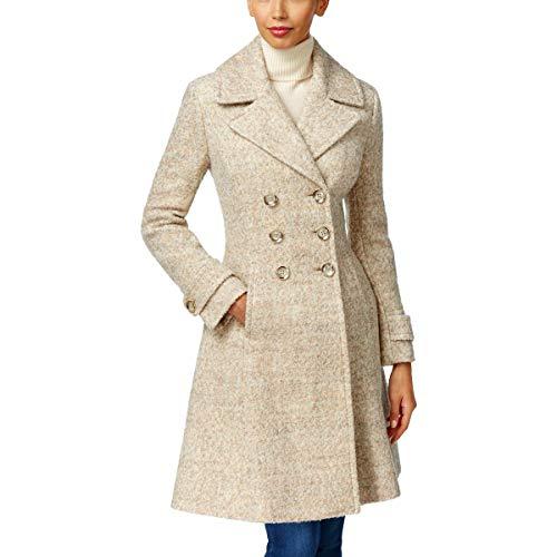 Ivanka Trump Womens Winter Wool Blend Pea Coat Taupe 16