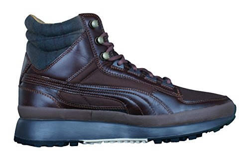 Puma Montapon Luxe Leather Herren Turnschuhe-Brown-44.5