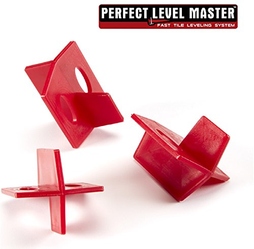 1/16'' Reusable Tile spacers PERFECT LEVEL MASTER Bag of 100 three sides spacers for wall and floor by Perfect Level Master ™