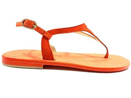 Zapatos Mujer EDDY DANIELE 37 Sandalias Naranja Gamuza AW294