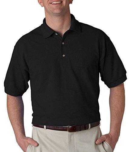Gildan Ultra Cotton 6.5 oz. Piqué Polo (G380)- BLACK,XL (Sport Ultra Pique Shirt Cotton)