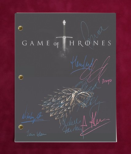 Game Of Thrones Tv Script W/Repro Signatures Clarke, Dinklage, Harington C3