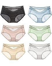 6 Pack Ultra-Thin Ice Silk Panties For Women, Ice Silk Seamless Ice Silk Sexy Underwear For Girls