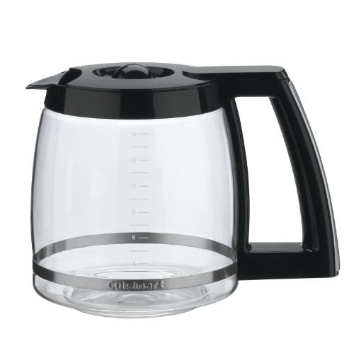 Cuisinart Replacement DCC-2200PRC Glass Carafe 14-Cup Coffee Maker Pot, Black