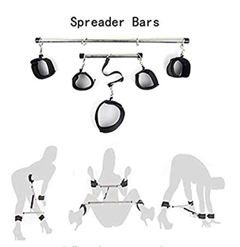 Lsinyan Joyful Toys,Adjustable Stainless Steel Spreader Bar Soft Home Indoor Sports Training Aid Tools for Her Funny Sweetheart