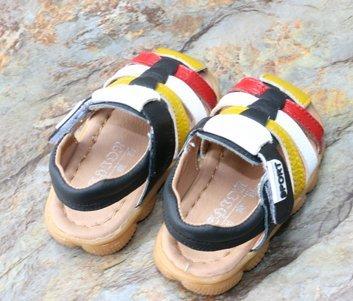 Ohmais Kinder Baby Jungen Baby Kleinkind Schuh Leder weich Gelb