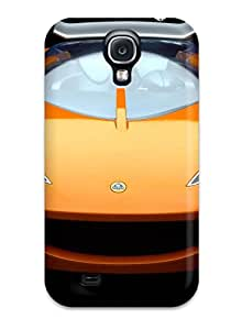 Rugged Skin Case Cover For Galaxy S4- Eco-friendly Packaging(lotus Hot Wheels Concept Wallpaper)