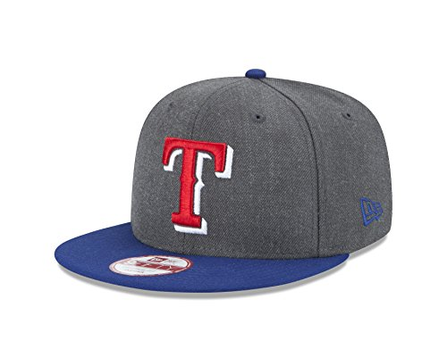 fan products of MLB Texas Rangers Heather 9Fifty Snapback Cap, One Size, Graphite