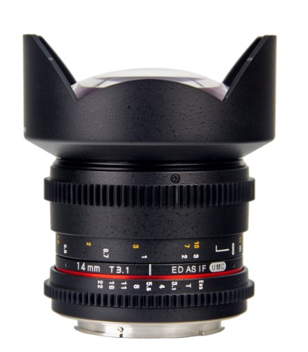 Bower SLY14VDC Super-Wide 14mm T/3.1 Digital Cine Lens for Canon SLR Camera