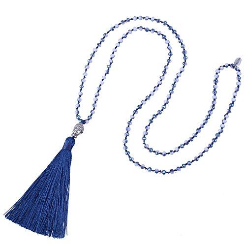 Buy beaded tassel necklaces for women