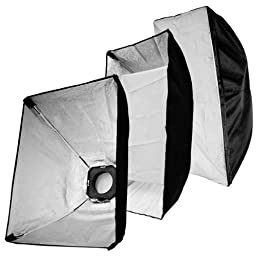LimoStudio Photo Studio Flash Strobe Light Soft Boxes 3 & 5 in One Photo Refletors with 3 of 180Watt Flash Lights total 540Watt Kit, AGG1203