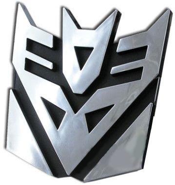 Transformers Decepticons Logo 3D Car Hood Ornament / Decal (Transformers Hood Ornament compare prices)