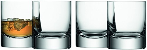 LSA International Bar Double Old Fashioned Tumbler (4 Pack), 8.4 fl. oz., Clear