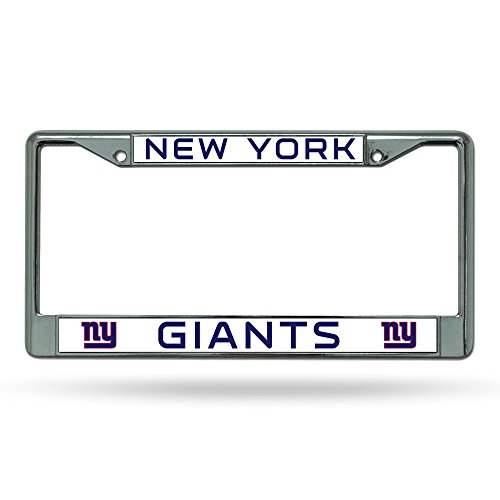 (Rico Industries NFL New York Giants Standard Chrome License Plate Frame)