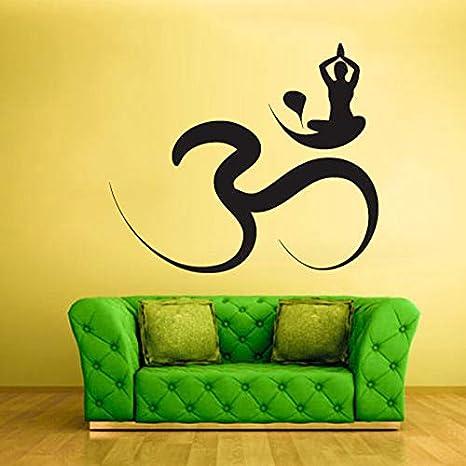 Yoga Sticke Decal Hinduism OM Posters Vinilo Tatuajes de ...