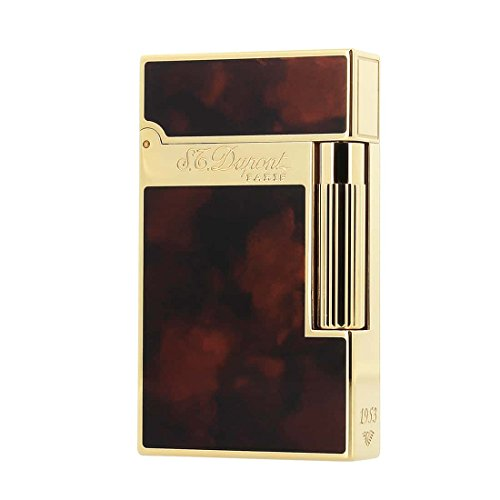 S.T. Dupont line 2 Lighter Double Flame Gold Dark Brown ()