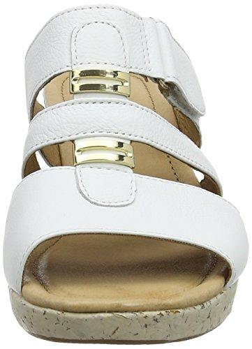 Gabor Rainbow - Sandalias de cuero mujer blanco - White (White Leather)