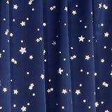 1級遮光カーテン プラネット ネイビーブルー 幅100cm×丈135cm 2枚入 全2色8サイズ