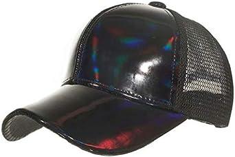 Silver Laser Baseball Caps Spring Fashion Hip Hop Snapback Hats Adjustable Rainbow Baseball Caps for Men Women
