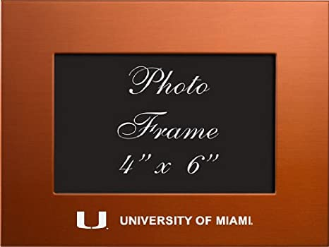 Amazon University Of Miami 4x6 Brushed Metal Picture Frame
