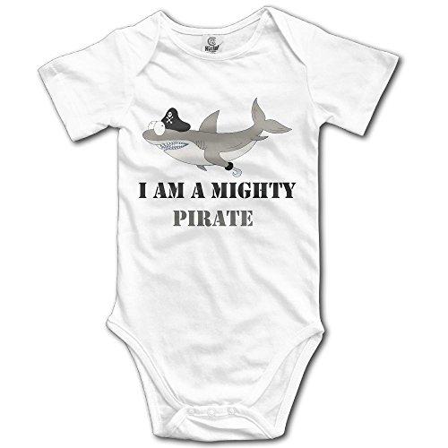 Infant Mako Tiger Shark Short Sleeve Unisex Baby Bodysuit - Fastest Usps Shipping