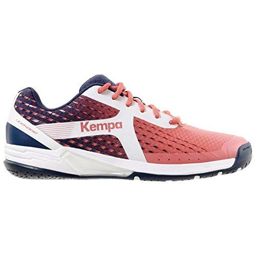 84be123c29 Kempa - 200849702 - Chaussures de Handball - Femme - Rouge (Bordeaux/Bleu  Marine