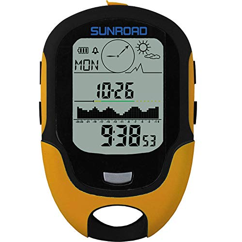 SUNROAD 700-9000m LED Digital Altimeter Barometer Compass Waterproof Altimeter Climbing Fishing Tool