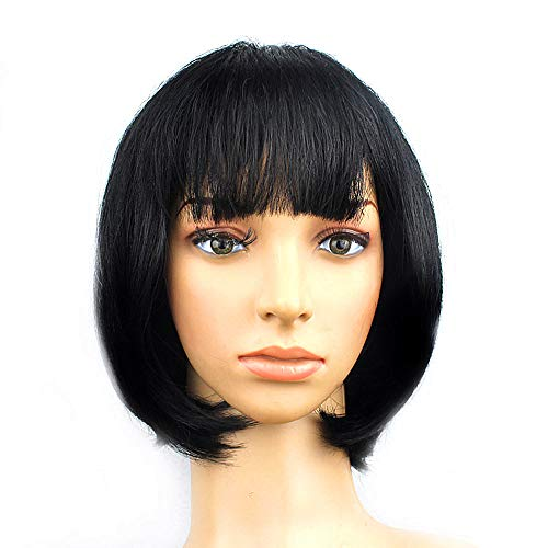 KATCOCO Womens Short Bob Wig Heat Resistant Colorful Syntheic Hair Wig Cosplay Daily Party Wig for Women