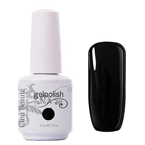 Clou Beaute Gelpolish 15ml Soak Off UV Led Gel Polish Lacquer Nail Art Manicure Varnish Color Black 1348