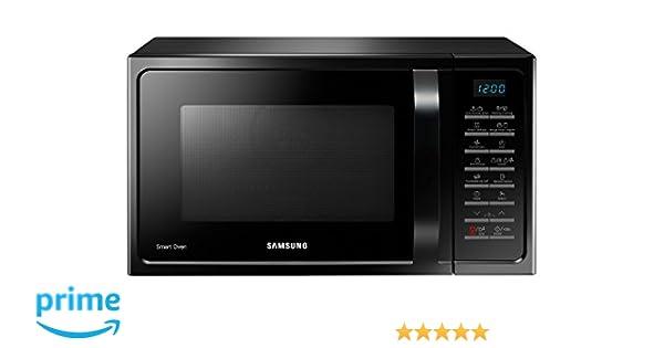 Samsung MC28H5015AK Encimera 28L 900W Negro - Microondas (Encimera, 28 L, 900 W, Botones, Negro, Retirable)
