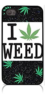HeartCase Hard Case for Iphone 4 4G 4S (Weed Hipster Quote )