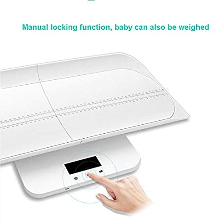 Amazon.com : Baby Scale Digital Multi-Function for Baby, Adult with Weight (Max: 220Lbs) and Height Track, Blue Backlight Display Ergonomic Design Separable ...
