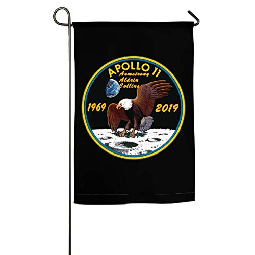 WINDST Personalized Apollo 11 50th Anniversary Logo Garden Flag 12x18 Inch for Patio,Home,Yard,Outdoor - Garden Anniversary