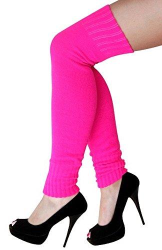 krautwear® Beenwarmers voor dames, beenwarmers, overknees, gebreide kousen, ca. 70 cm, jaren 80