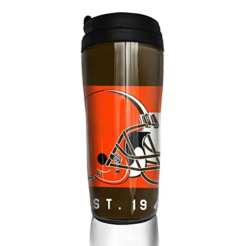 (Marrytiny Custom 12 oz Coffee Cup with Splash Proof Lid Cleveland Browns Double Wall Vacuum Insulated Travel Mug - Insulated for Hot & Cold Drinks Cup 350ml)