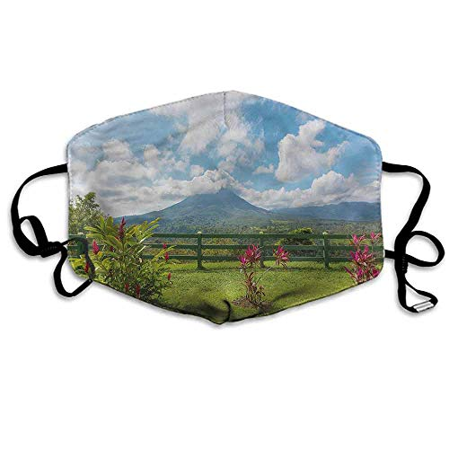 - Volcano Dust Mouth Mask Costa Rica Scenic Arenal for Men and Women W4