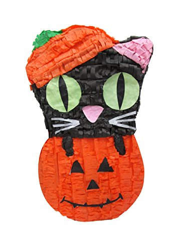 in Halloween Pinata,  Paper Mache Molded Handcraft,  24'' H (Grim Reaper Cat)