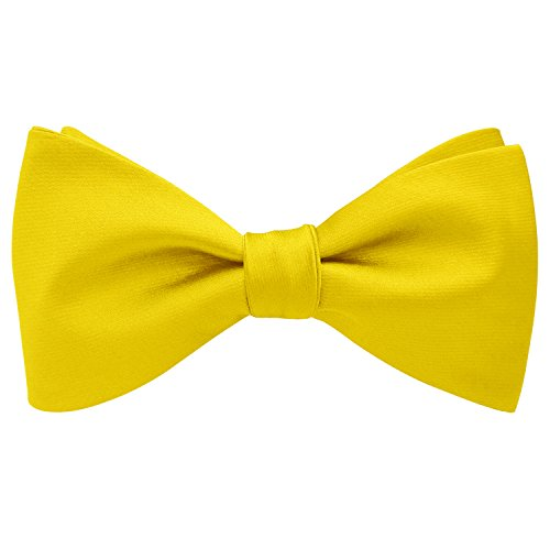 Colors Silk Yellow Exquisite Bowtie Plain Solid Woven Self Various Ties Bow Mens EgPnvxqd