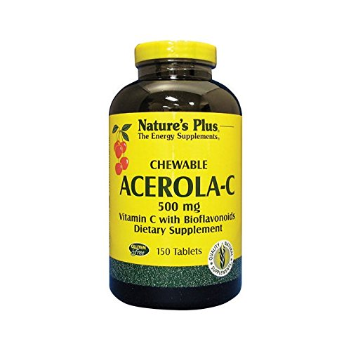 Acerola Chew (Natures Plus Acerola-C Chewable, 500mg Vitamin C - 150 Tablets)