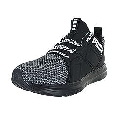 Puma Men's Enzo Terrain Sneaker, Asphalt Black White, 11 M Us