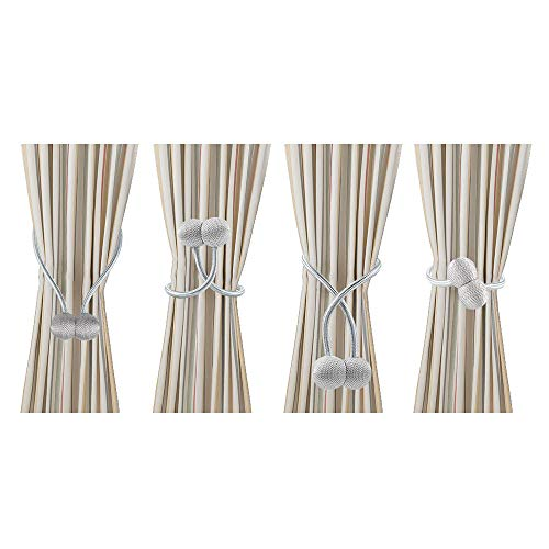 Decorative Magnetic Weave Rope Curtain Tiebacks for Home Office Window Drapes US