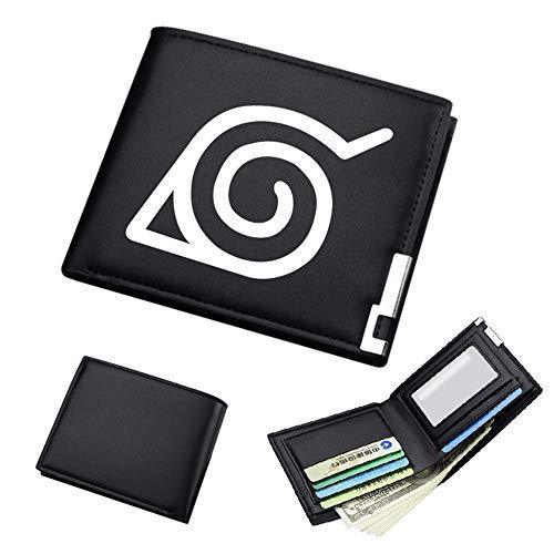 ASLNSONG Anime Slim Front Pocket Wallet Short Pattern PU Purse Wallet for Men Students (Naruto) (Wallet Purse Naruto)
