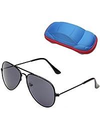 UV Protection Kids Aviator Sunglasses with Case Children...